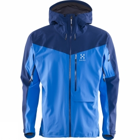 Haglofs Haglofs Men's Touring Proof Jacket Vibrant Blue / Hurricane Blue