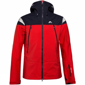 Snow and Rock J.Lindeberg Harper 3-Layer GORE-TEX Shell Jacket Racing Red