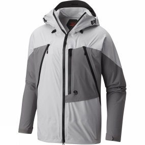 Mountain Hardwear Mountain Hardwear Mens CloudSeeker Jacket Grey Ice/Manta Grey