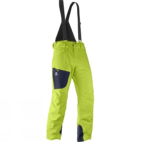 Salomon Salomon Mens Chill Out Bib Pants Acid Lime