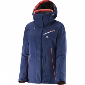 Salomon Salomon Womens Fantasy Jacket Wisteria Navy