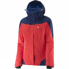 Salomon Salomon Womens Icerocket Jacket Infrared/Wisteria Navy