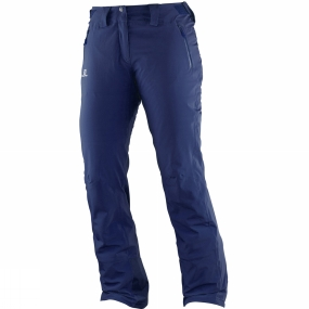 Salomon Salomon Womens Iceglory Pants Wisteria Navy