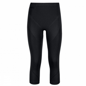 Odlo Women's Evolution Warm 3/4 Pant Black/Graphite Grey