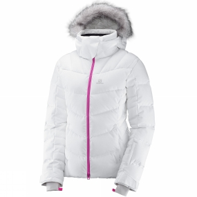 Salomon Salomon Womens Icetown Jacket White Heather