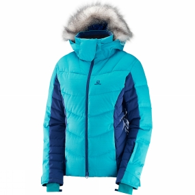 Salomon Salomon Womens Icetown Jacket Bluebird/Medieval Blue