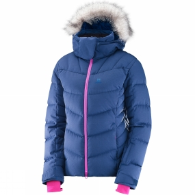 Salomon Salomon Womens Icetown Jacket Medieval Blue Heather