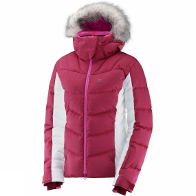 Salomon Salomon Womens Icetown Jacket Beet Red