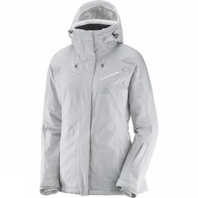 Salomon Salomon Womens Fantasy Jacket Light Grey Heather