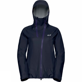 Jack Wolfskin Jack Wolfskin Womens Exolight Range Jacket Midnight Blue