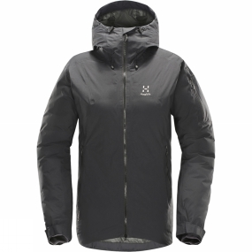 Haglofs Down and QuadFusion™ work together to make this a highly versatile garment-reliable and warm as well as comfortable and light. Added protection against wind and water by PROOF™ makes it perfect for winter conditions. The insulation is body-mapped and distributed intuitively and the snug fit helps keep you comfortable.