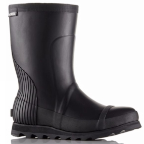 Sorel Sorel Womens Joan Rain Short Boot Black / Sea Salt