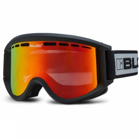 Bloc Bloc Aero Goggles Matte Black/Brown Revo Red Mirror