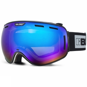 Bloc Bloc Equaliser Goggle Matt black/ Brown Revo Blue Mirror +