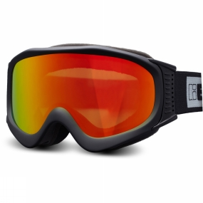 Bloc Bloc Ice Goggle Matt Black/Brown Revo Red Mirror