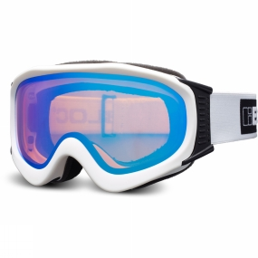 Bloc Bloc Ice Goggle Matt White/Orange Revo Blue/Cat2