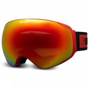 Bloc Bloc Evolution Goggle Matt Red/Dark Brown Revo Red Mirror