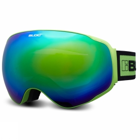 Bloc Bloc Evolution Goggle Matt Green/Brown Revo Green Mirror