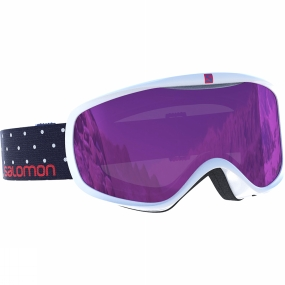 Salomon Womens Sense Goggles White Polka