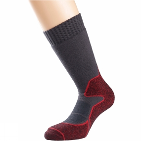 Image of 1000 Mile Heat Walk Sock Charcoal/Red