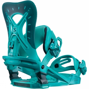 Salomon Womens Nova Snowboard Bindings Teal Blue