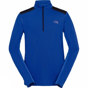 The North Face The North Face Mens Kilowatt 1/4 Zip Top Bomber Blue Heather
