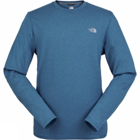 The North Face The North Face Men's Reaxion Amp Long Sleeve Crew Banff Blue Heather