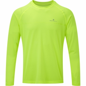 Ronhill Ronhill Mens Everyday Long Sleeve Tee Fluo Yellow