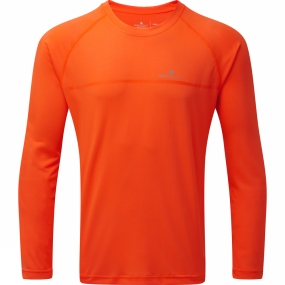 Ronhill Ronhill Mens Everyday Long Sleeve Tee Fluo Orange