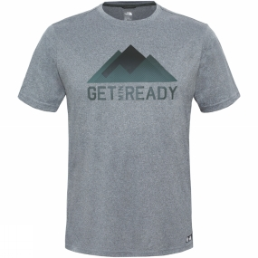 The North Face The North Face Mens MA Graphic Reaxion Amp Crew TNF Medium Grey Heather