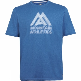 The North Face The North Face Mens MA Graphic Reaxion Amp Crew Blue Aster Heather