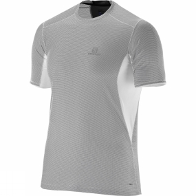Salomon Salomon Mens Trail Runner Short Sleeve Tee White