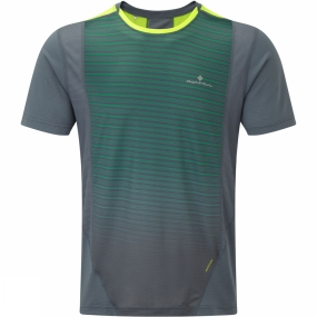 Ronhill Ronhill Mens Stride Short Sleeve Crew Granite/Forest