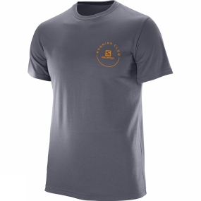 Salomon Salomon Mens Pulse Tech Tee Ombre Blue
