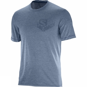 Salomon Salomon Mens Pulse Short Sleeve Tee Dress Blue