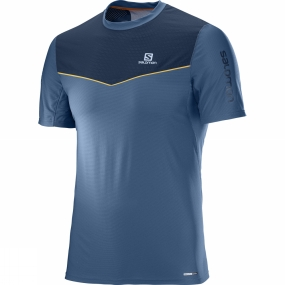 Salomon Salomon Mens Fast Wing Short Sleeve Tee Vintage Indigo/Dress Blue