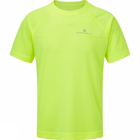 Ronhill Ronhill Mens Everyday Short Sleeve Tee Fluo Yellow