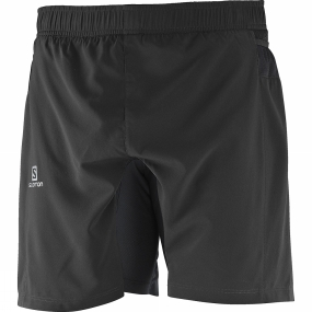 Salomon Salomon Mens Fast Wing Twinskin Shorts Black