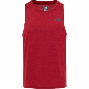 The North Face The North Face Mens Ambition Tank Cardinal Red Heather/Cardinal Red