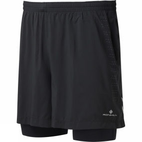 Ronhill Ronhill Mens Infinity Fuel Twin Shorts All Black