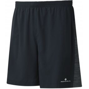 Ronhill Ronhill Mens Momentum Twin 7in Shorts Black/Charcoal Marl