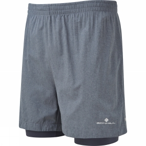 Ronhill Mens Momentum Twin 5in Shorts