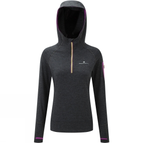 Ronhill Ronhill Womens Momentum Victory Hoodie CharcoalMarl/Thistle