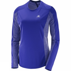Salomon Salomon Womens Agile Long Sleeve Tee Spectrum Blue