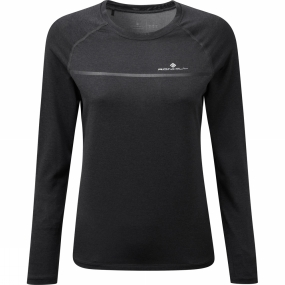 Ronhill Ronhill Womens Everyday Long Sleeve Tee Charcoal Marl