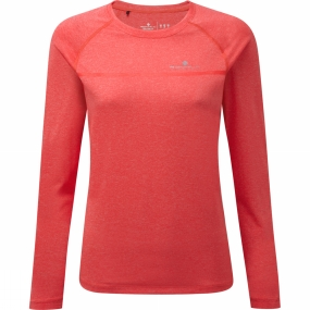 Ronhill Ronhill Womens Everyday Long Sleeve Tee Hot Pink Marl