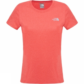 The North Face Womens Reaxion Amp Crew Melon Red Heather