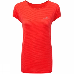 Ronhill Ronhill Womens Aspiration Lux Tee Hot Coral