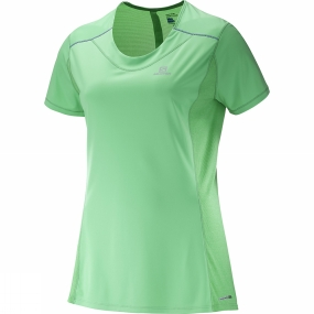 Salomon Salomon Womens Agile Short Sleeve Tee Jasmine Green