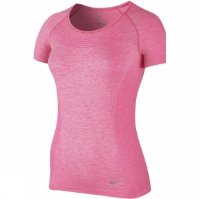 Nike Nike Womens Dri-Fit Knit Short Sleeve HYPER PINK/HTR/REFLECTIVE SILV